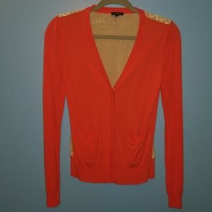 Ann Taylor Orange Cardigan Sz. S